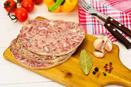 Saltisons, Brawn Homemade Ham Studio Photo Stock Photo