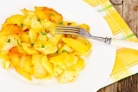 Fried Potatoes Stidio Photo Stock Photo