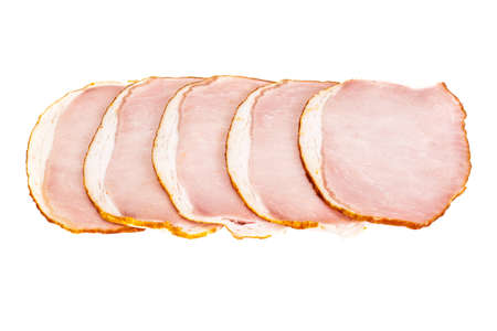 carbonate: Ham, Carbonate on White Background Stock Photo