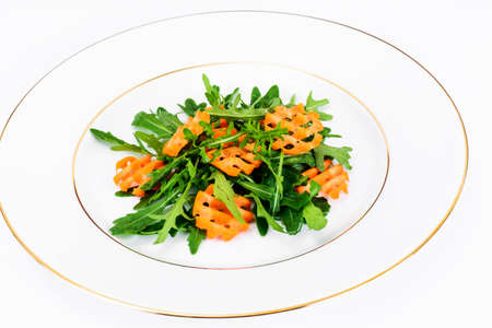 Arugula Salad and Carrot Studio Photo