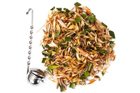 healthful: Wonderful Thai herbal tea with Pandan and Lemongrass. Studio Photo