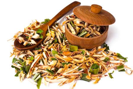 pandan: Wonderful Thai herbal tea with Pandan and Lemongrass. Studio Photo
