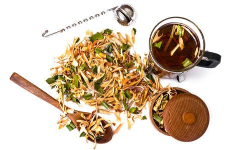 lemongrass tea: Wonderful Thai herbal tea with Pandan and Lemongrass. Studio Photo