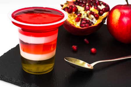 fruit jelly: Fruit jelly puff. Studio Photo