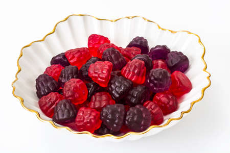 Chewing marmalade jelly candies with berry flavor. Studio Photo Archivio Fotografico