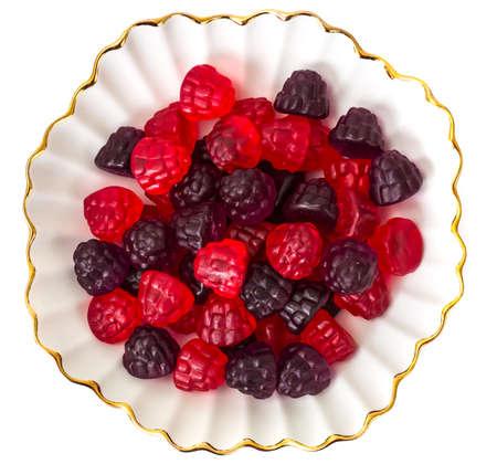 textura: Masticare marmellata caramelle di gelatina con sapore di bacche. Studio Foto Archivio Fotografico