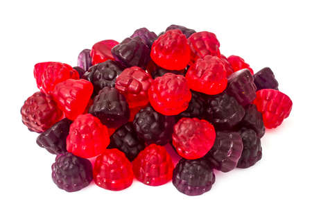 Chewing marmalade jelly candies with berry flavor. Studio Photo Stock Photo