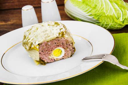 turkish ethnicity: Roll of Cabbage, Eggs, Minced Studio Photo