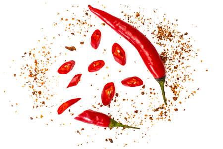 Chili, red pepper flakes, corns and chili powder