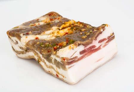 isolaten: Bacon, Salo salt Isolaten on White Background