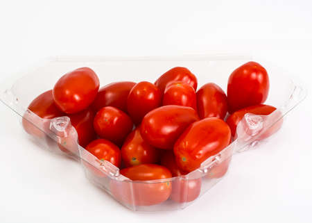 oblong: Small red oblong tomatoes