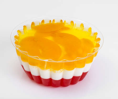 Multi-color jelly in plastic molds