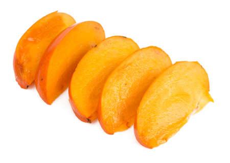 Cut orange persimmon Stock Photo
