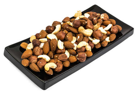 A mixture of nuts, cashews, almonds and hazelnuts