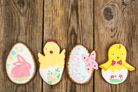 icing: Easter gingerbread cookies with icing