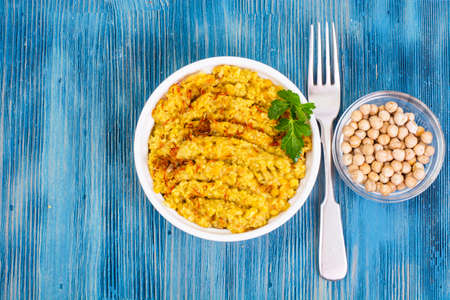 Chickpea dish traditional Middle Eastern cuisine Stock Photo