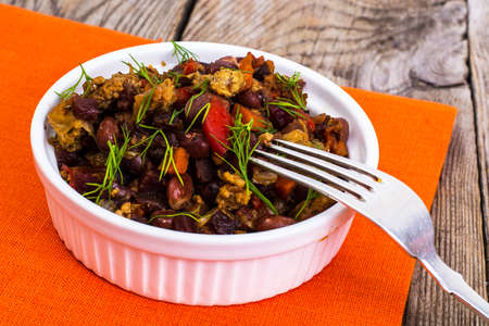 minced beef: Mexican dish, minced beef with chilli