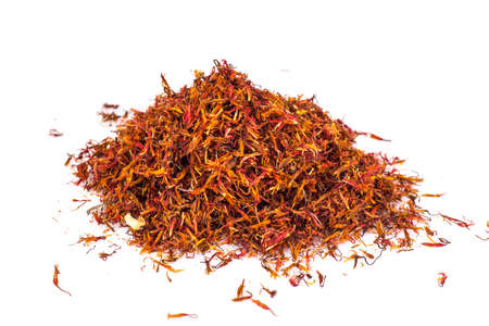 Saffron-expensive spice, isolated on a white background