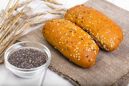 christmas baker's: Wheat rye bread with flax seeds, chia, sesame