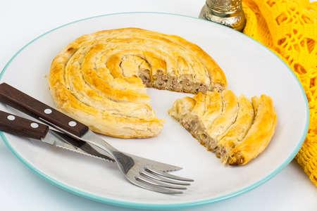 Burek with meat. Turkish baked goods