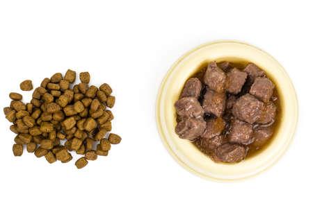 개밥과 고양이 스톡 콘텐츠