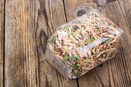 lemongrass tea: Dry leaves of lemongrass in package Stock Photo