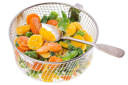 Mix of frozen vegetables. Studio Photo Stockfoto