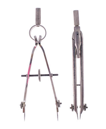 Retro metal drawing tools Stock Photo