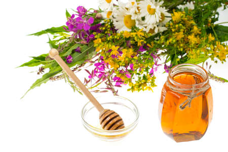 Medicinal herbs and honey in folk medicine