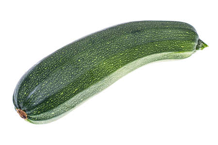 Young zucchini on white background Stock Photo