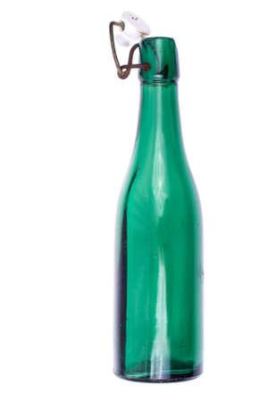 gasket: Vintage bottle with a porcelain on white background
