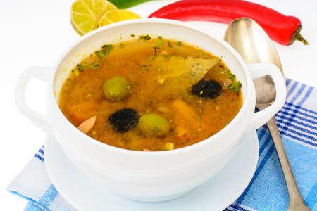 Dish of Russian cuisine-saltwort