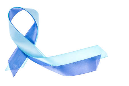 Blue Ribbon  symbol of awareness about prostate cancer