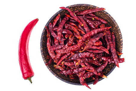asian flavors: Red dried chili Stock Photo
