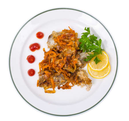 Fish with vegetable marinade
