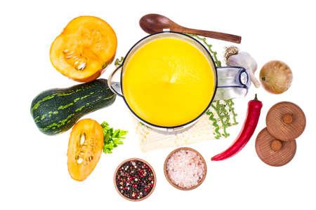 processors: Preparation and mixing of pumpkin puree