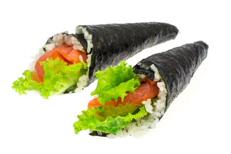 Sushi with salmon of cone