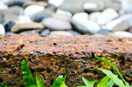 Border near stone pebble, abstract background Stock Photo