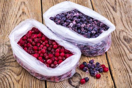 Natural vitamins.Frozen sweet garden berries