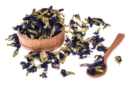 Organic blue flower tea Stock Photo
