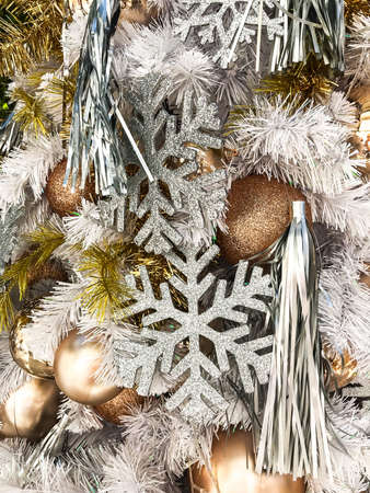 elegant christmas background and christmas tree decorations studio photo stock photo 92259388 - Elegant Christmas Tree Decorations