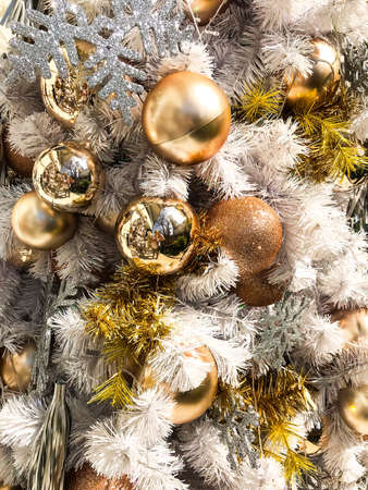 elegant christmas background and christmas tree decorations studio photo stock photo 92259389