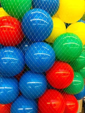 Colored  balls in grid. Studio Photo