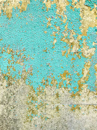 Paint peeling off wall. Studio Photo Stock Photo