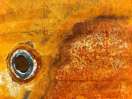 Rust, corrosion on metal surface. Imagens