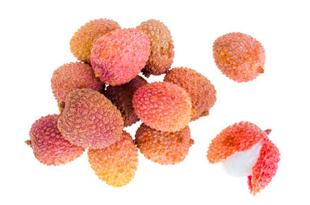 Small sweet sour berry Litchi chinensis. Studio Photo Stock fotó