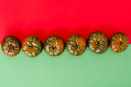 Fresh delicious tomatoes Solanum lycopersicum Raf. Studio Photo