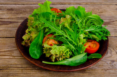 Fresh juicy salad with tomatoes, healthy lifestyle concept, weight loss concept.