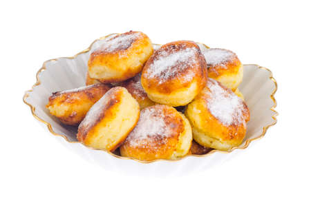 Sweet delicious curd buns. Photo Stock fotó