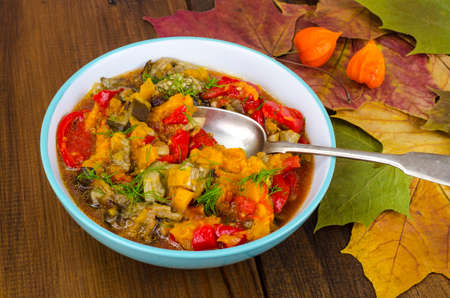 Bowl with vegetable stew